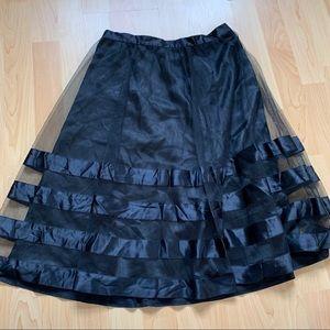 New Black Tulle Skirt